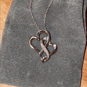 Infinity Heart Diamond Necklace